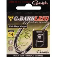 Gamakatsu G-Barbless Wide Gape Maggot Hook #12