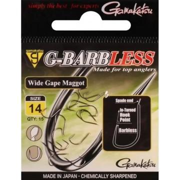 Gamakatsu G-Barbless Wide Gape Maggot Hook #14