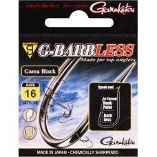 Gamakatsu G-Barbless Gama Black Hook #16