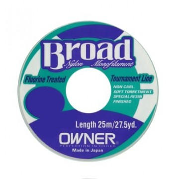 Owner pavadėlinis valas Broad 0.08 mm 25 m